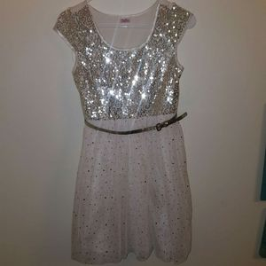 Justice Gold Sequin Dress